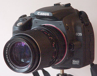 Canon EOS 350D with Carl Zeiss Jena MC S 3 5/135 (Sonnar)