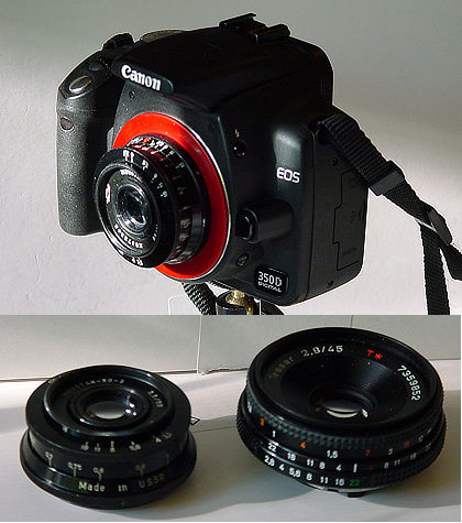 Canon EOS 350D with Industar-50-2 3 5/50mm